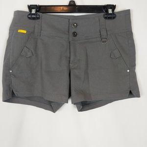 Lole Women's Size 8 Gray Stretch Shorts 4 Pockets